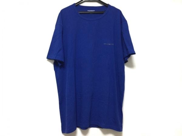 エンポリオアルマーニ アンダーウェア 半袖Tシャツ サイズXL メンズ ブルー ニット