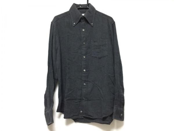 PaulSmith(ポールスミス) 長袖シャツ サイズM メンズ グレー×黒