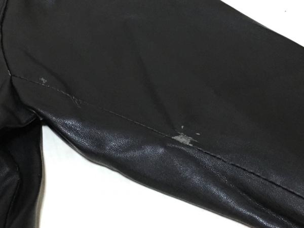 LE CIEL BLEU(ルシェルブルー) ブルゾン サイズ38 M レディース 黒 フェイクレザー