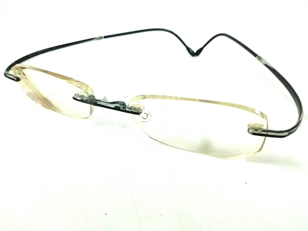 Silhouette(シルエット) メガネ 黒×クリア 度入り プラスチック