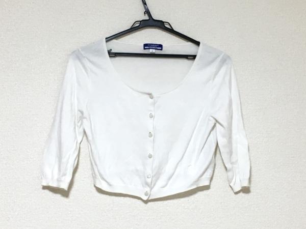 バーバリーブルーレーベル ボレロ サイズ38 M レディース 白 ショート丈/袖七分丈
