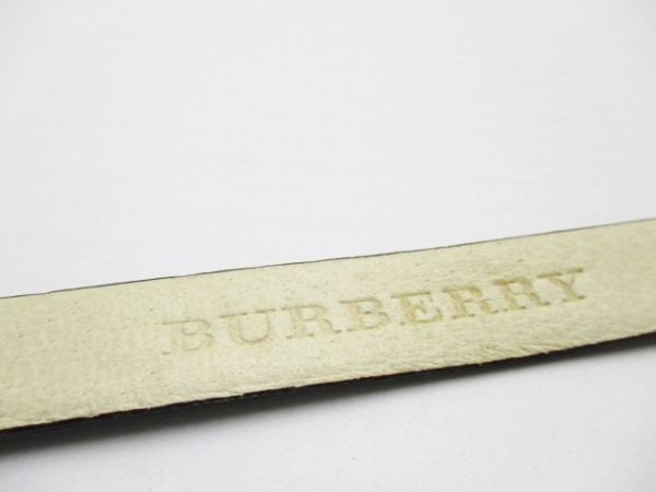 Burberry(バーバリー) ベルト ダークブラウン×ゴールド レザー×金属素材