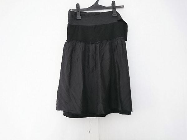 コズミックワンダー スカート サイズ1 S レディース ダークグレー×黒 ダメージ加工