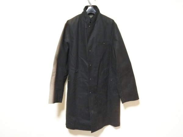 ゴルチエオム コート サイズ48 XL メンズ 黒×グレー 春・秋物/ロング丈