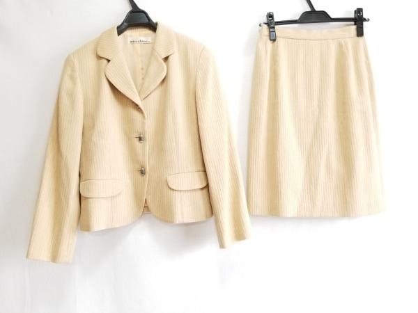 MISS CHLOE(クロエ) スカートスーツ サイズ40 M レディース ベージュ ストライプ