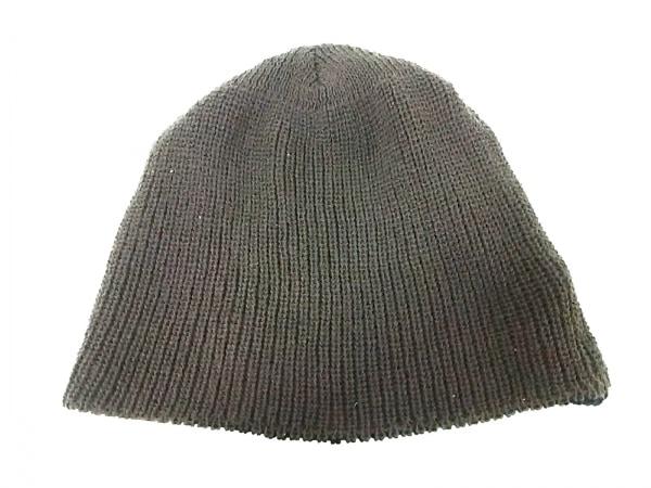 CA4LA(カシラ) ニット帽 黒×ブラウン リバーシブル ウール