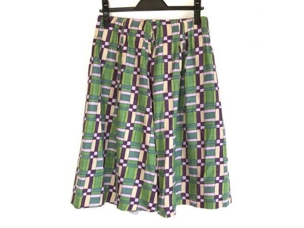シビラ スカート サイズL レディース美品  ダークグリーン×パープル×マルチ