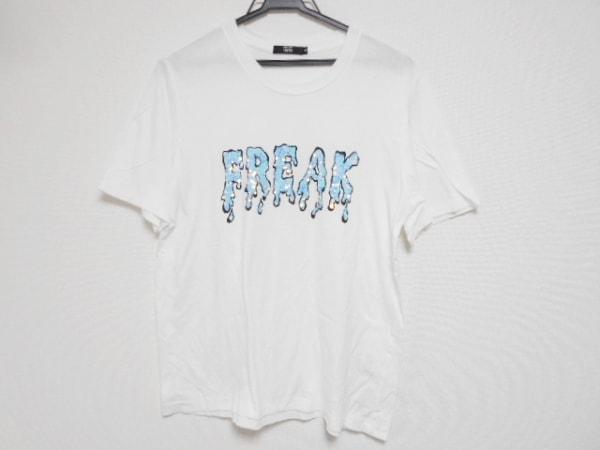 マーカスルプファー 半袖Tシャツ サイズS レディース美品  白×黒×マルチ