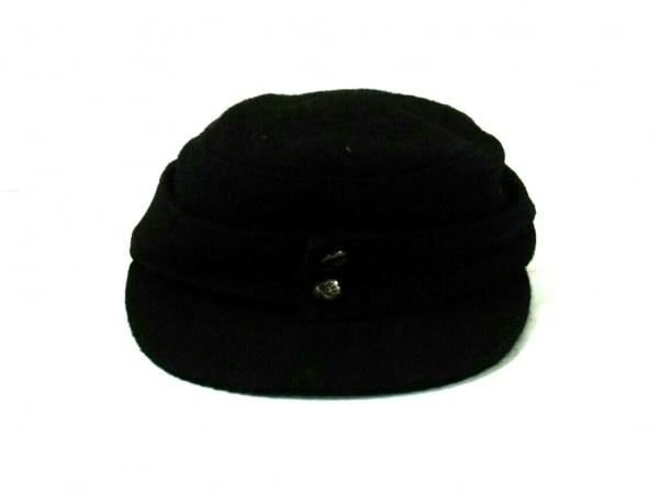 Y's Red Label(ワイズレッドレーベル) 帽子美品  黒 ウール