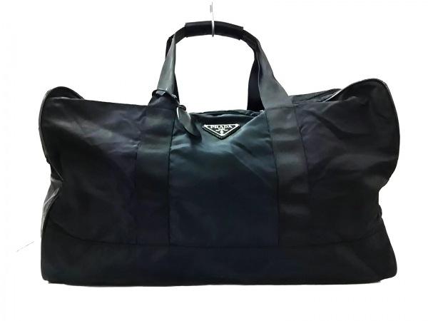 PRADA(プラダ) ボストンバッグ美品  - 黒 ナイロン×レザー