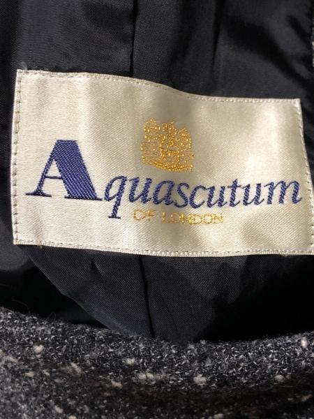 アクアスキュータム ジャケット サイズ9 M レディース美品  ダークグレー×白