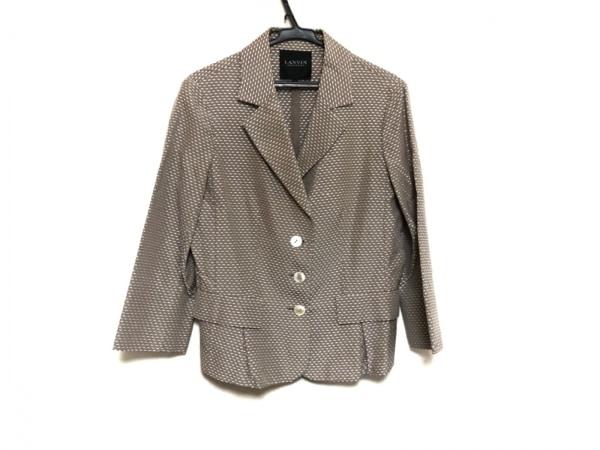 ランバンコレクション ジャケット サイズ36 S レディース美品  ベージュ×白
