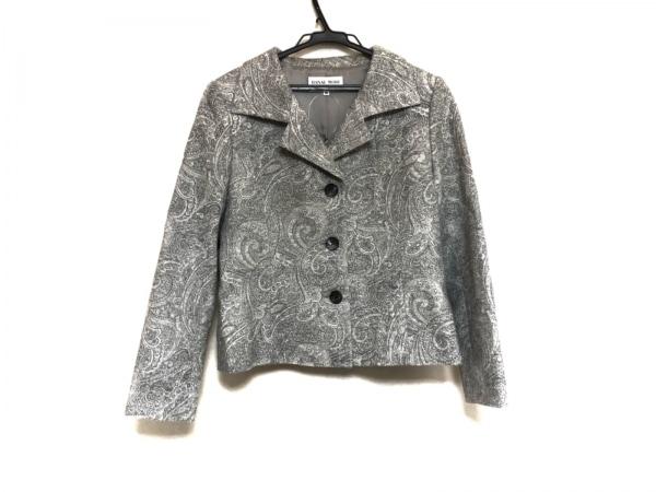 HANAE MORI(ハナエモリ) ジャケット サイズ38 M レディース美品  グレー ラメ