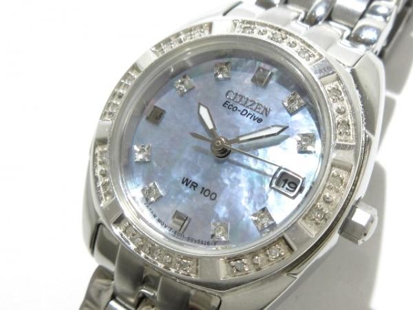 CITIZEN(シチズン) 腕時計 E011-S066433/EW1590-56Y レディース シェルグレー
