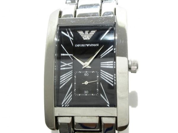 EMPORIOARMANI(アルマーニ) 腕時計 レクタンギュラー AR-0156 メンズ 黒