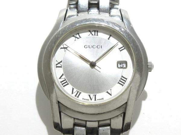 GUCCI(グッチ) 腕時計 5500M メンズ シルバー