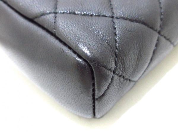 CHANEL(シャネル) 財布美品  マトラッセ/カメリア 黒 ラムスキン