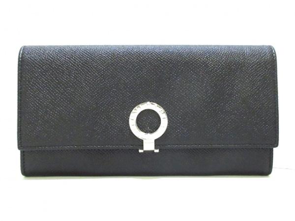 BVLGARI(ブルガリ) 長財布美品  ブルガリブルガリ 30414 黒 レザー