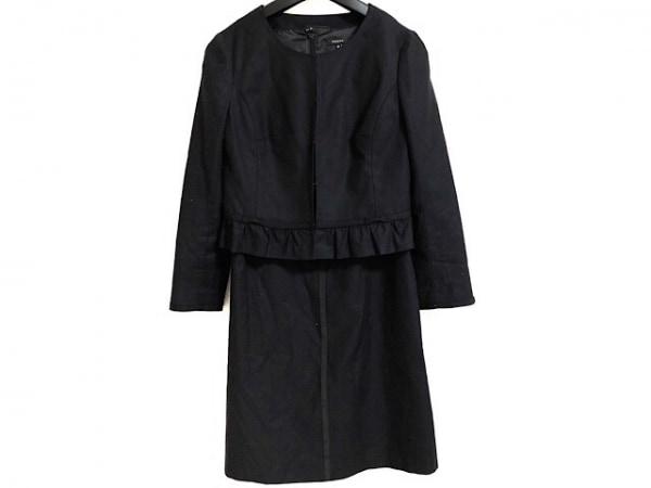 TOCCA(トッカ) ワンピーススーツ レディース 黒×ベージュ リボン