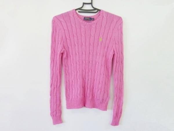 ポロラルフローレン 長袖セーター サイズS S レディース新品同様  ピンク