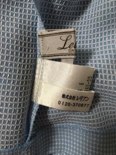 レリアン ワンピーススーツ サイズ9 M レディース新品同様  ライトブルー×白