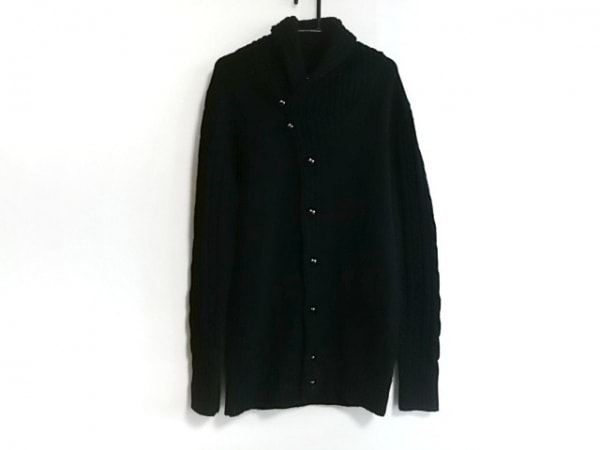 AKM(エーケーエム) コート サイズL レディース 黒 ニット/冬物
