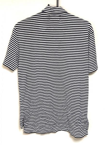 ラルフローレン 半袖ポロシャツ サイズM メンズ ダークネイビー×白 ボーダー