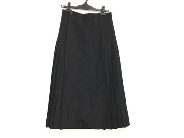 HYKE(ハイク) 巻きスカート サイズ2 M レディース美品  黒 プリーツ