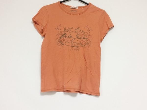 RalphLauren(ラルフローレン) 半袖Tシャツ レディース オレンジ×ブラウン