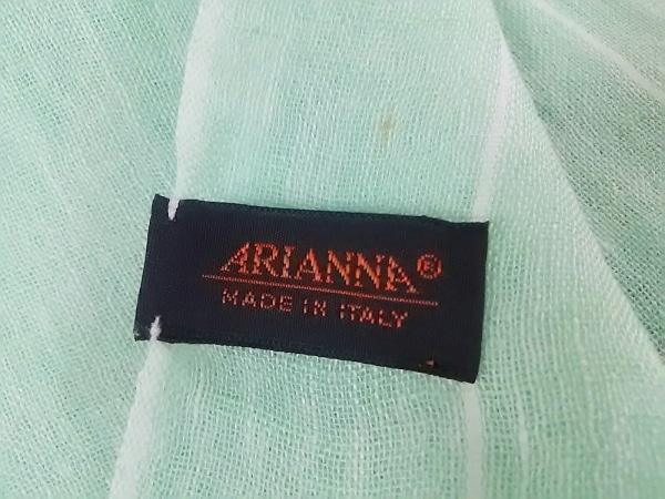 ARIANNA(アリアンナ) ストール(ショール)美品  ライトグリーン 天然繊維