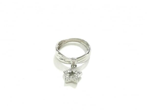 ノーブランド リング美品  Pt900×ダイヤモンド クリア 総重量:3.6g/0.06刻印