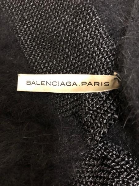 BALENCIAGA(バレンシアガ) カーディガン サイズ40 M レディース 黒×アイボリー