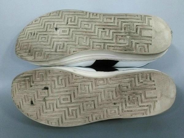 ALESSANDRO DELL'ACQUA(アレッサンドロデラクア) スニーカー 42 メンズ 白×黒 レザー