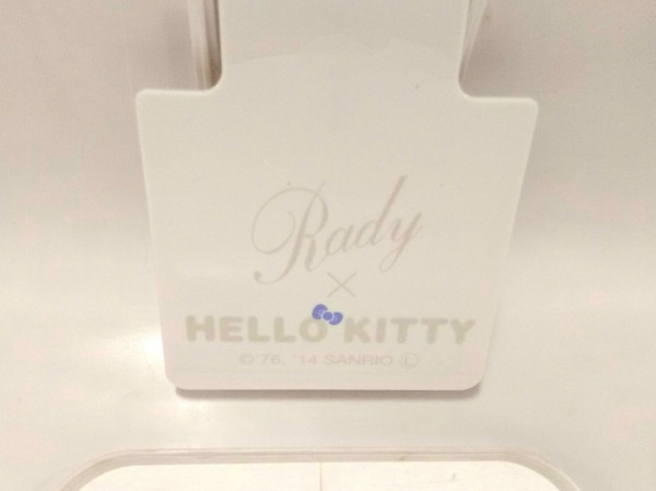 Rady(レディ) 小物美品  パープル×アイボリー×ピンク ティッシュケース/×KITTY