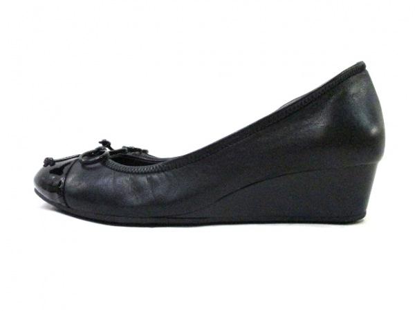 COLE HAAN(コールハーン) パンプス 7 B レディース 黒 NIKE AIR/ウェッジソール