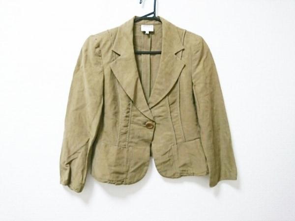 アルマーニコレッツォーニ ジャケット サイズ44 L レディース ブラウン