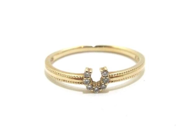 Arpege(アルページュ) リング美品  K10YG×ダイヤモンド