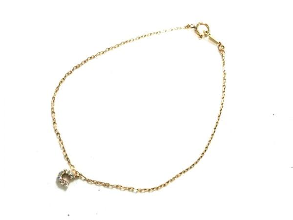 Arpege(アルページュ) ブレスレット美品  K10YG×ダイヤモンド 0.03カラット