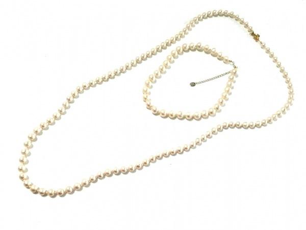 マッキントッシュフィロソフィー ネックレス 化学繊維×金属素材 ゴールド 数珠連/2連