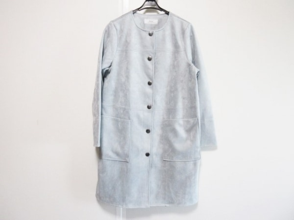 zelal(ゼラール) コート サイズ9 M レディース美品  ライトブルー 冬物