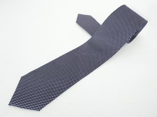 BORRELLI(ボレリ) ネクタイ メンズ美品  白×黒×ベージュ