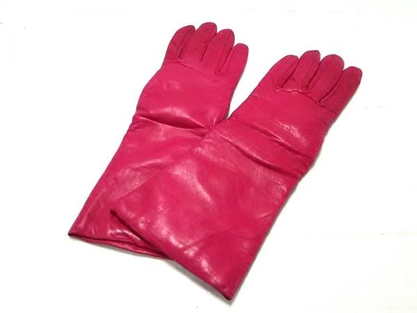 Sermoneta gloves(セルモネータグローブス) 手袋 レディース ピンク レザー