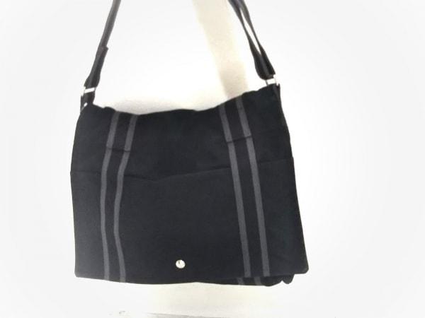 HERMES(エルメス) ショルダーバッグ美品  フールトゥバサスMM 黒×グレー キャンバス