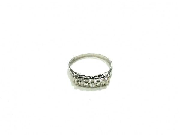 ノーブランド リング美品  Pt900×ダイヤモンド クリア 総重量:2.8g/070刻印