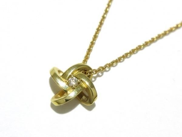 俄 NIWAKA(ニワカ) ネックレス美品  K18YG×ダイヤモンド 1Pダイヤ/0.02カラット