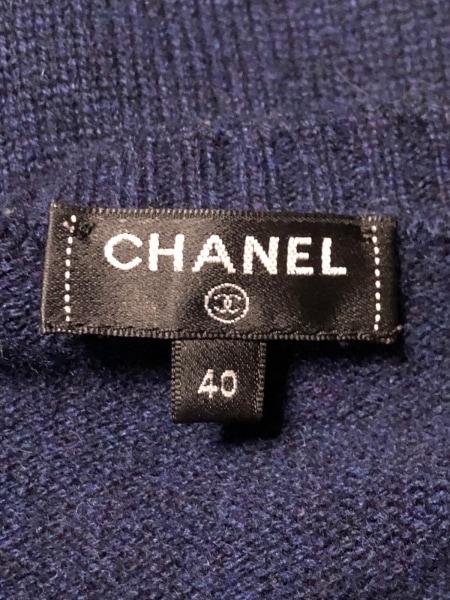 CHANEL(シャネル) 長袖セーター サイズ40 M レディース美品  P57351 ネイビー