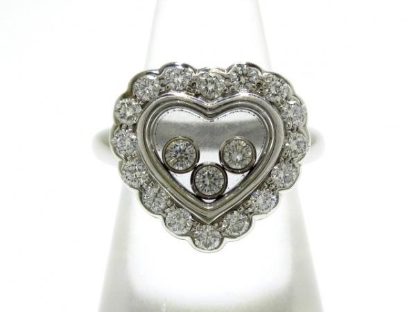 Chopard(ショパール) リング美品  ハッピーダイヤモンドハートリング 82/4758