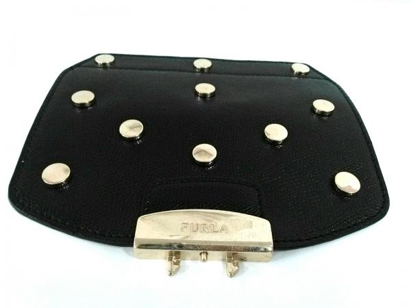 FURLA(フルラ) 小物 黒 メトロポリスカスタマイズ用フラップ/スタッズ レザー