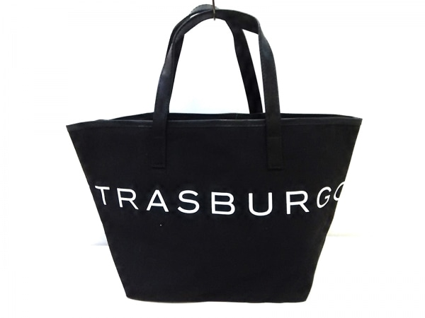 STRASBURGO(ストラスブルゴ) トートバッグ 黒×白 キャンバス×合皮