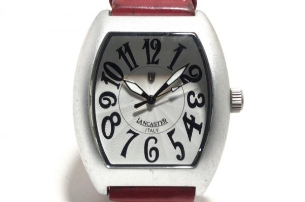 LANCASTER(ランカスター) 腕時計 REF.0224 レディース 革ベルト 白